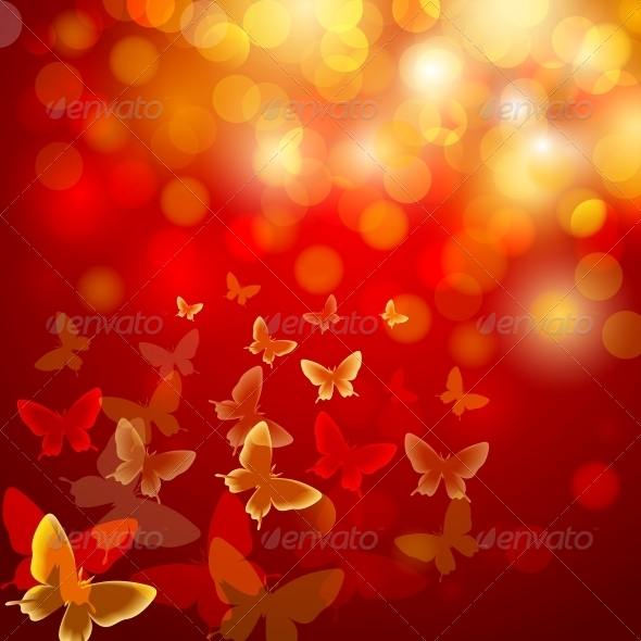 GraphicRiver Abstract Colourful Background with Butterflies 6755516