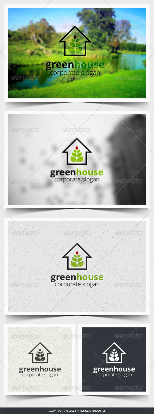 GraphicRiver Green House Logo Template 6755523