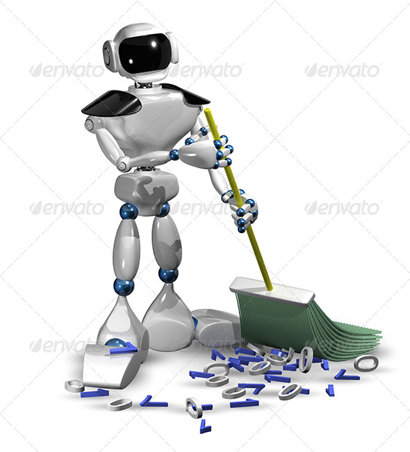 GraphicRiver Robot with a Broom 6755605