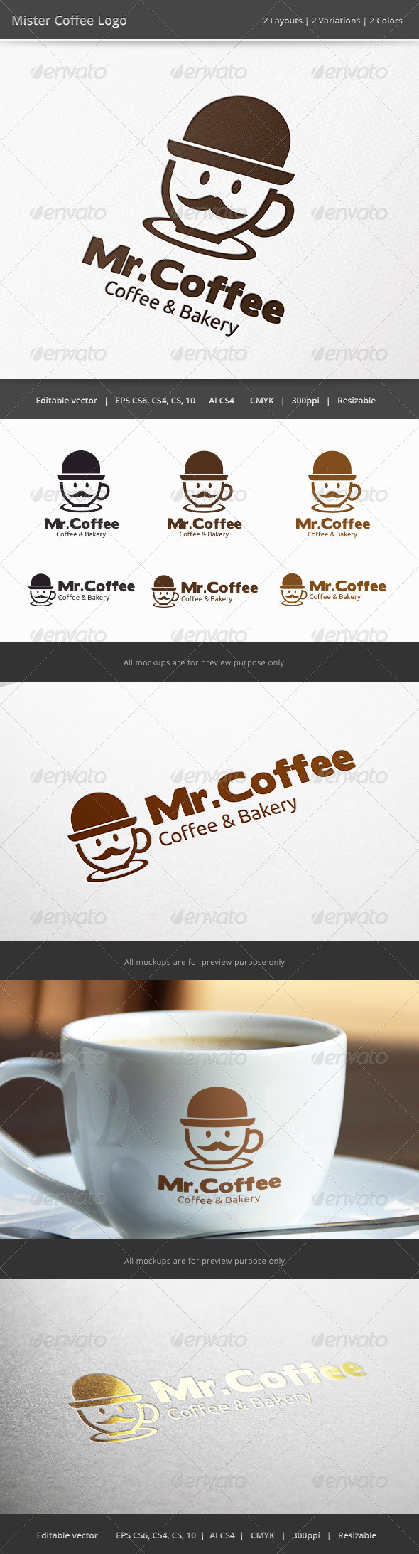 GraphicRiver Mister Coffee Logo 6755923