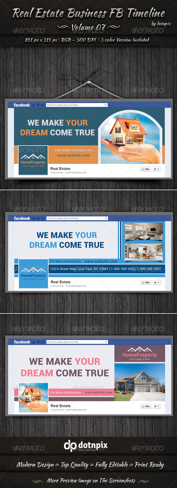 GraphicRiver Real Estate Business FB Timeline Cover Volume 7 6755928
