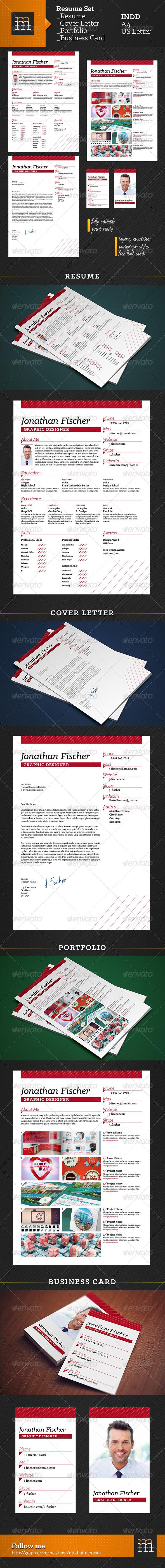 GraphicRiver Resume Set 6756022