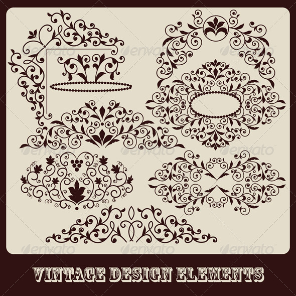 GraphicRiver Floral Design Elements 6756031