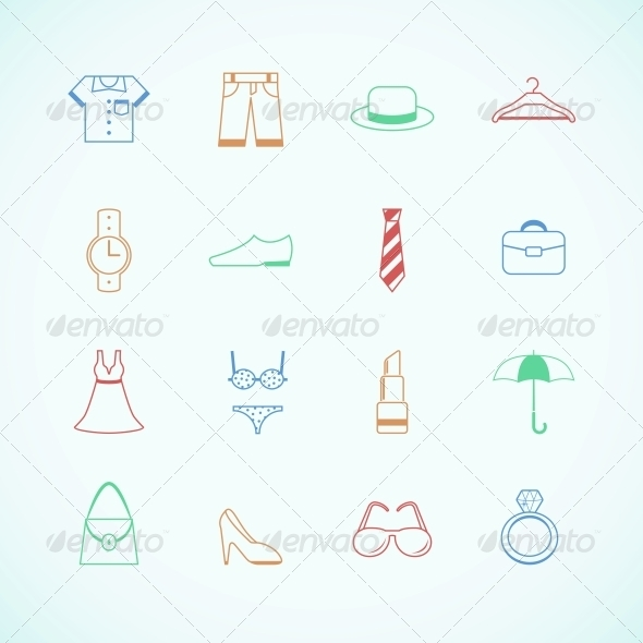 GraphicRiver Clothes Accessories Pictograms 6756086