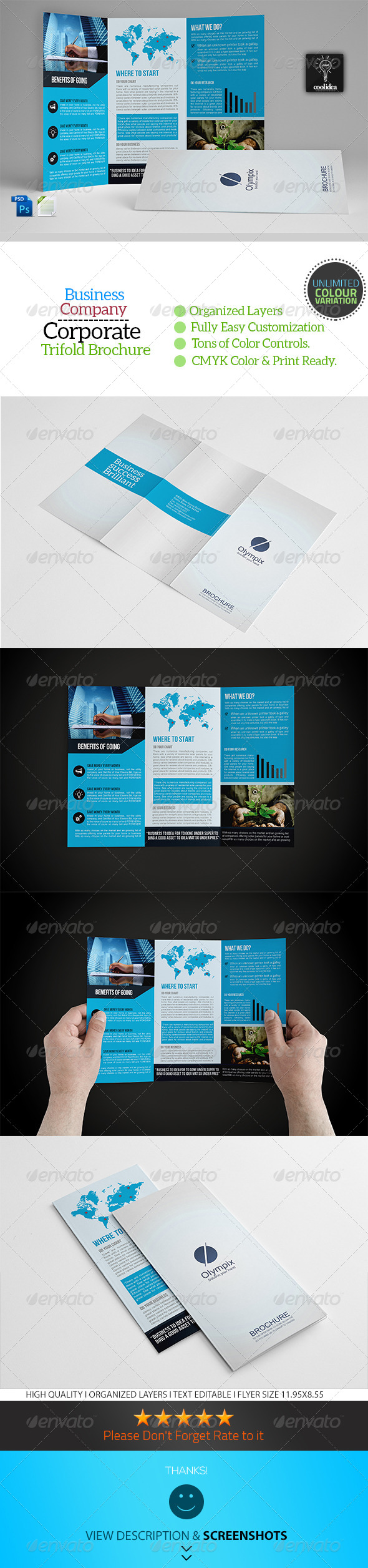 GraphicRiver A4 Trifold Business Brochure Template Vol01 6756221