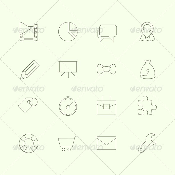 GraphicRiver Thin SEO Icons Vol 2 6637848
