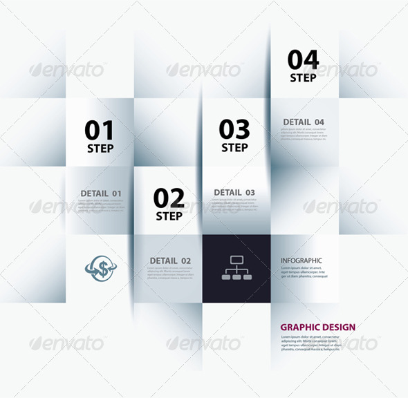 GraphicRiver Infographic Step and Numbers Design Template 6756742