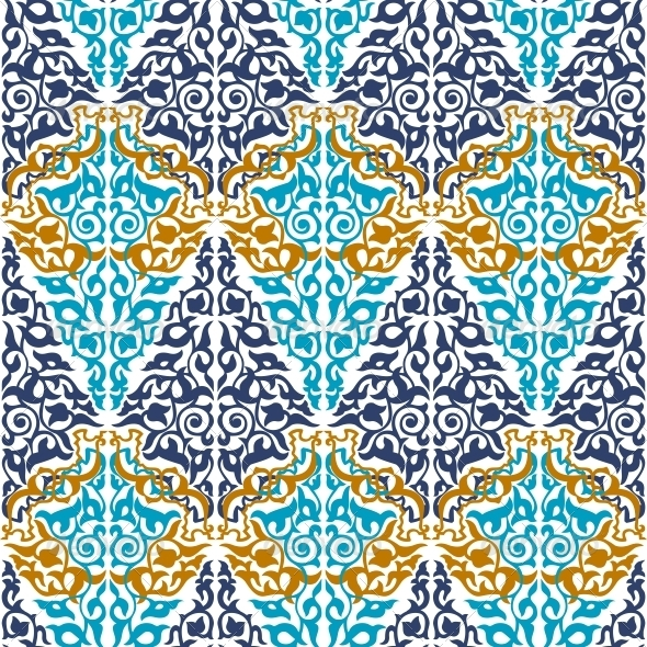 GraphicRiver Seamless in Mosaic Ethnic Style 6756787