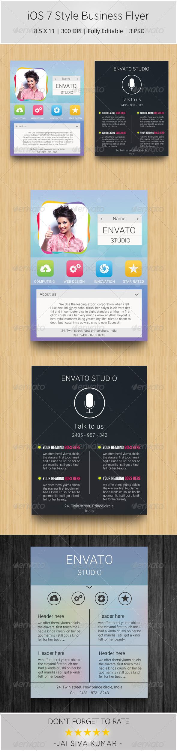 GraphicRiver iOS 7 Style Business Flyer 6756833