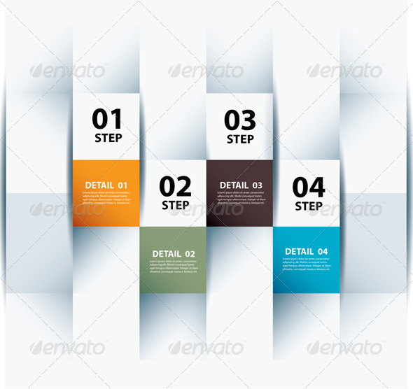 GraphicRiver Infographic Step and Numbers Design Template 6756937