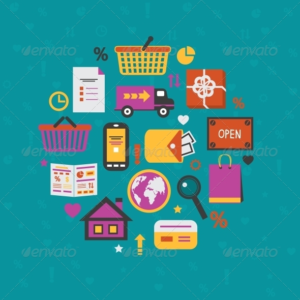 Internet Shopping Icons Set