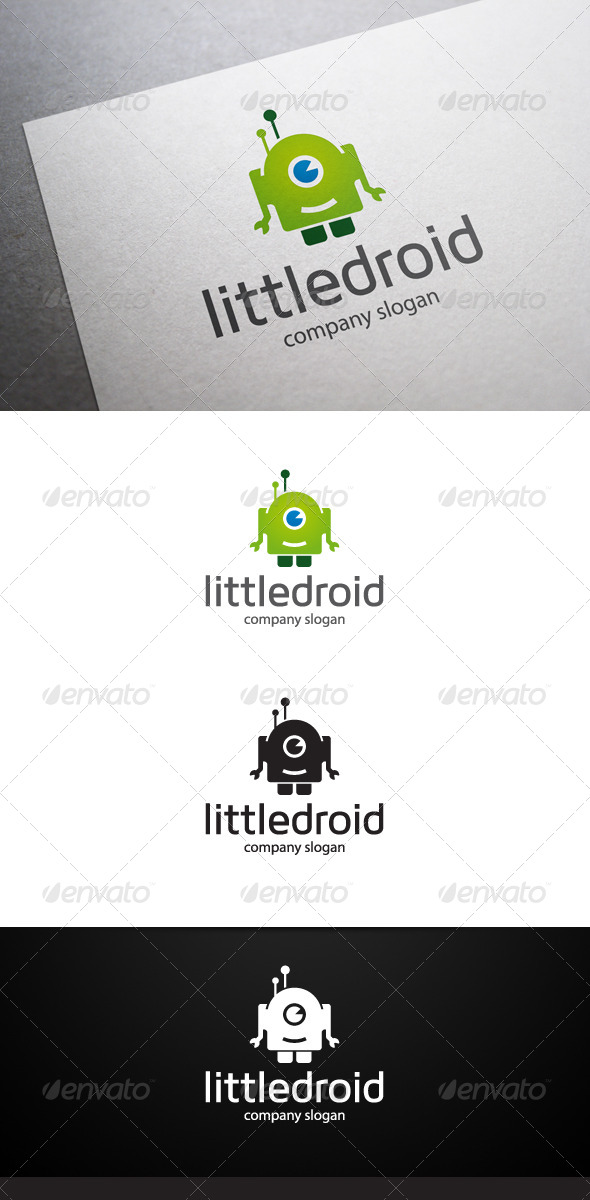 GraphicRiver Little Droid Logo V2 6757137