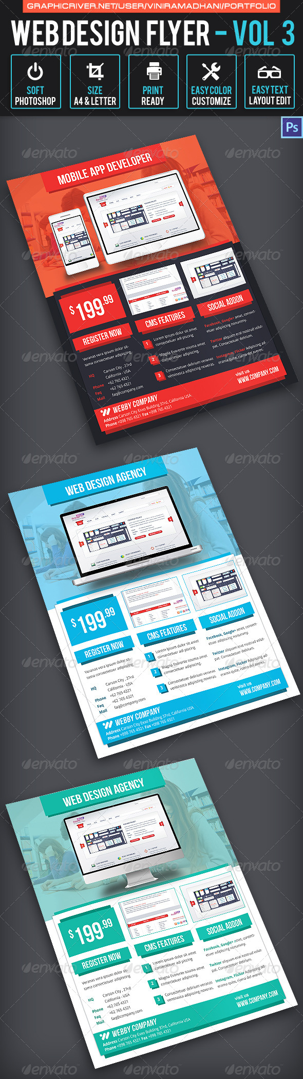 GraphicRiver Web Design Flyer Volume 3 6757156