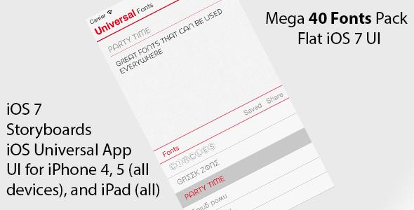 CodeCanyon Universal Fonts Cool Fonts Clone iOS Universal 6714048