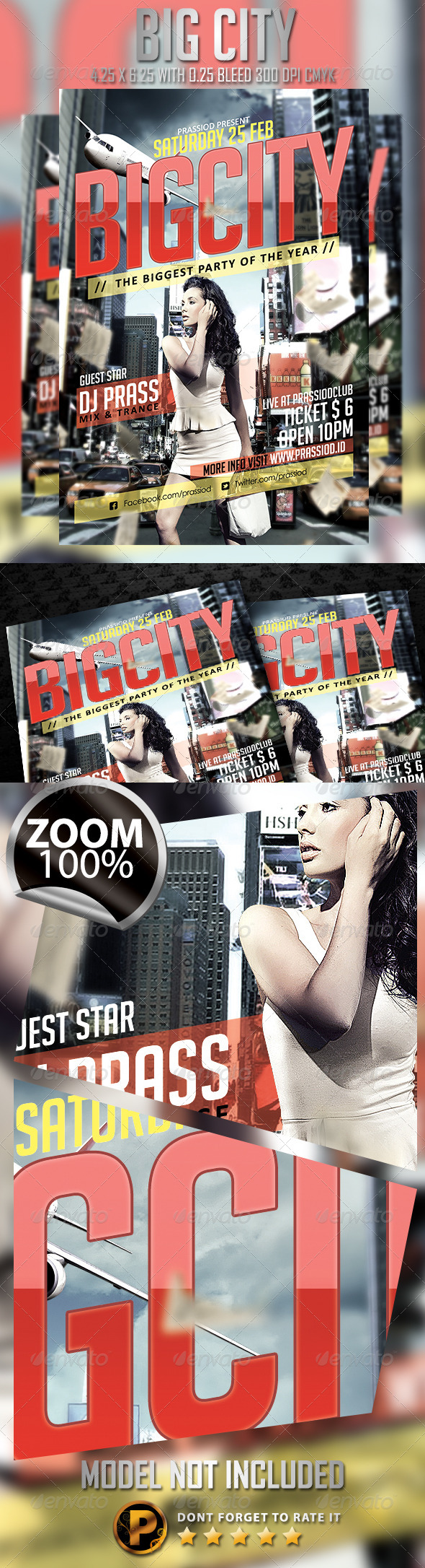 Big City Flyer Template - Clubs & Parties Events