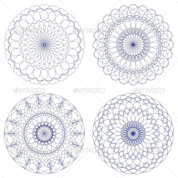 GraphicRiver Set of Vector Guilloche Rosettes 6757287