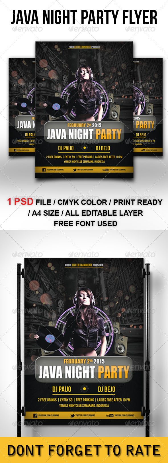 GraphicRiver Java Night Party Flyer Template 6685688