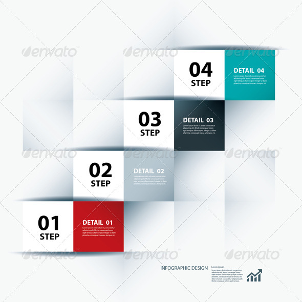 GraphicRiver Infographic Business Step and Design Template 6757353