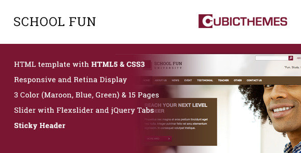 ThemeForest Schoolfun University & School 6757372