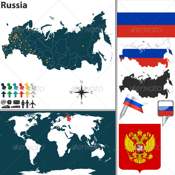GraphicRiver Map of Russia 6757504