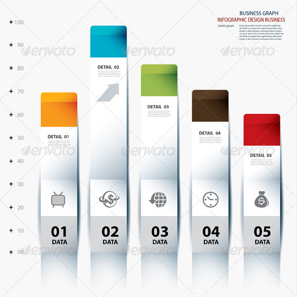 GraphicRiver Vector Infographic Step Data and Design Template 6757607