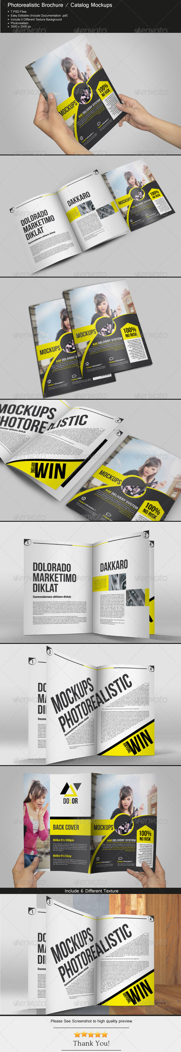 GraphicRiver Photorealistic Brochure Catalog Mockups 6757622