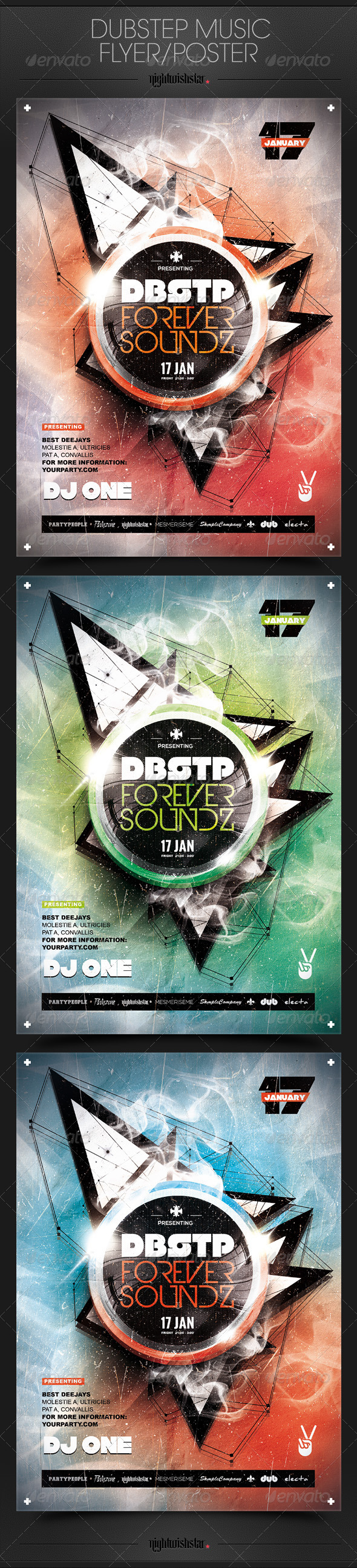 GraphicRiver Dubstep Music Party Poster Flyer 6757878
