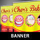 Bakery Cake Pop-Up Banner Template - GraphicRiver Item for Sale