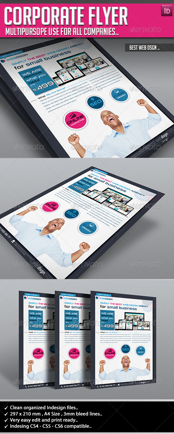 GraphicRiver Corporate Flyer Best WebDsgn 6705056