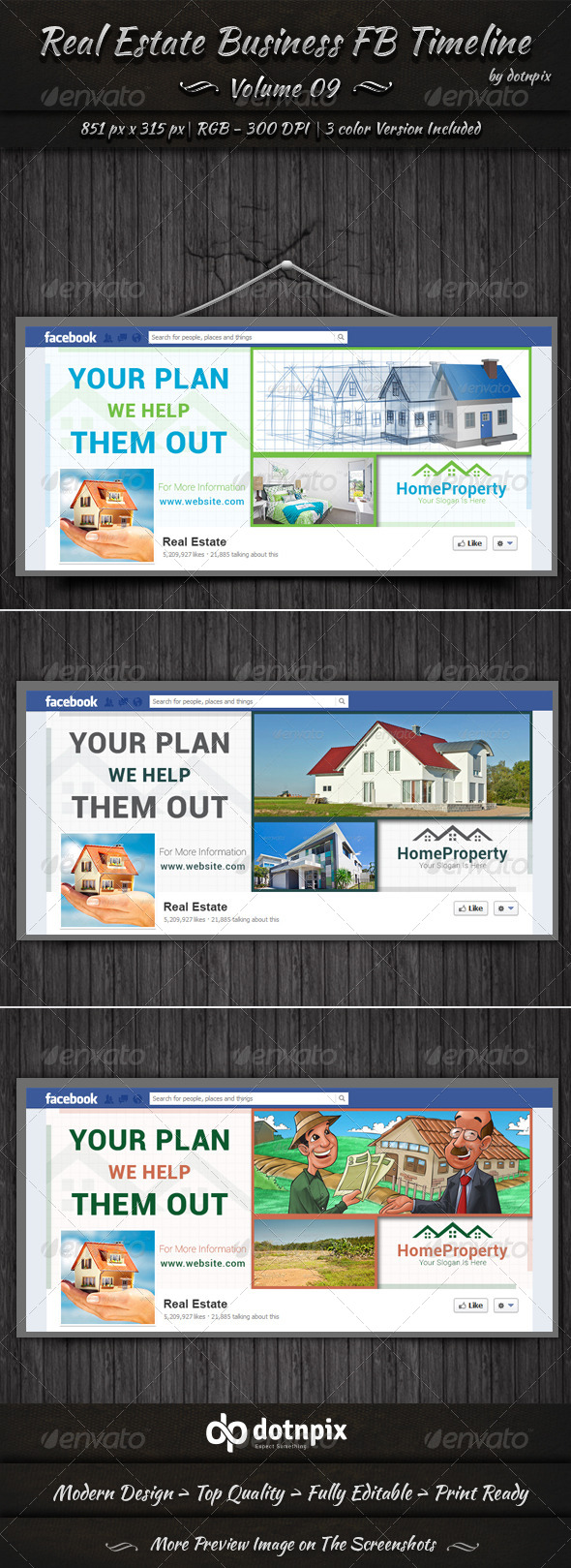 GraphicRiver Real Estate Business FB Timeline Cover Volume 9 6758035