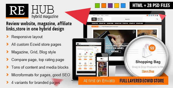 ThemeForest REHub Hybrid Magazine Shop Review HTML Template 6682280