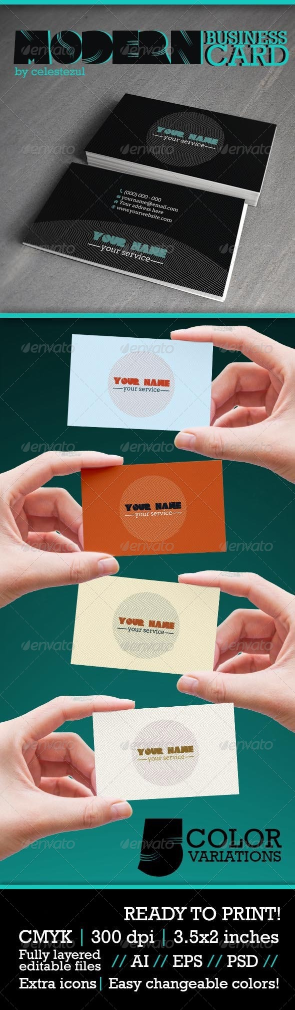 GraphicRiver Modern Business Card 6341573