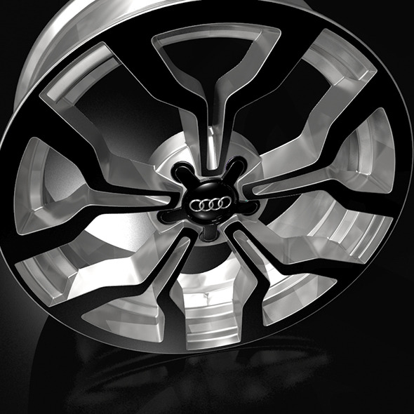 audiR8 wheel rim - 3DOcean Item for Sale