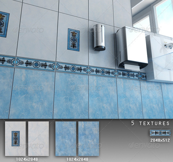 Professional Ceramic Tile Collection C052 - 3DOcean Item for Sale