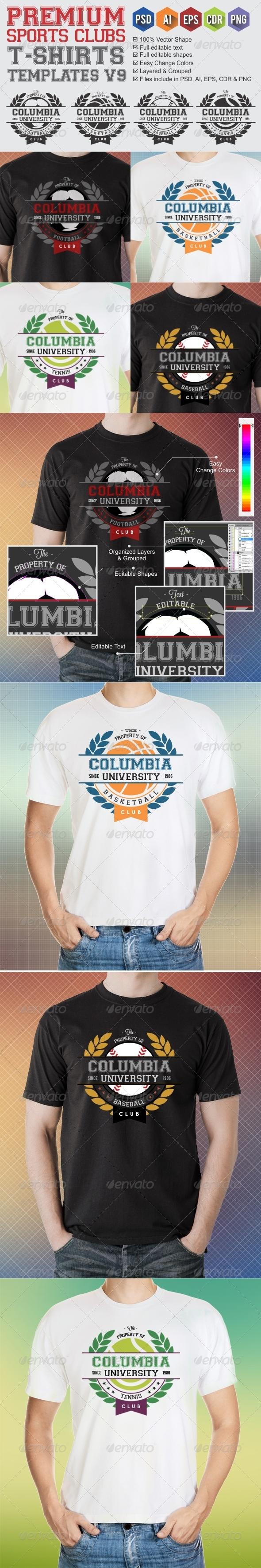 GraphicRiver Premium Sports Clubs T-Shirt Templates v9 6758533