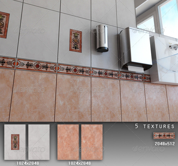 Professional Ceramic Tile Collection C053 - 3DOcean Item for Sale