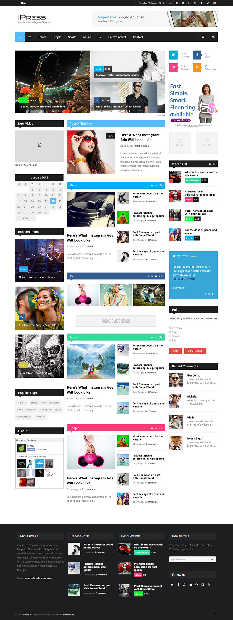 iPress - Responsive News/Magazine/Blog HTML5