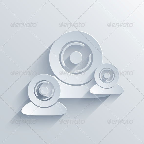 GraphicRiver Vector Flat Modern Icon on Blue Background.EPS10 6760000