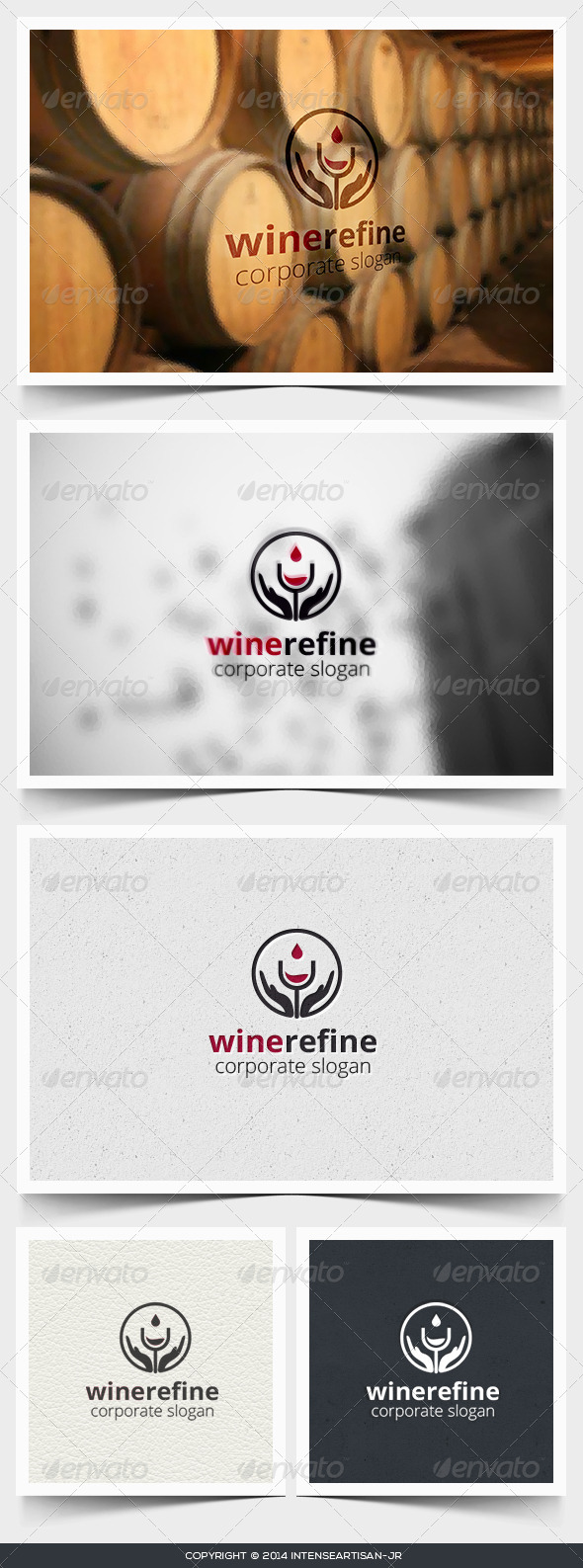 GraphicRiver Wine Refine Logo Template 6760337