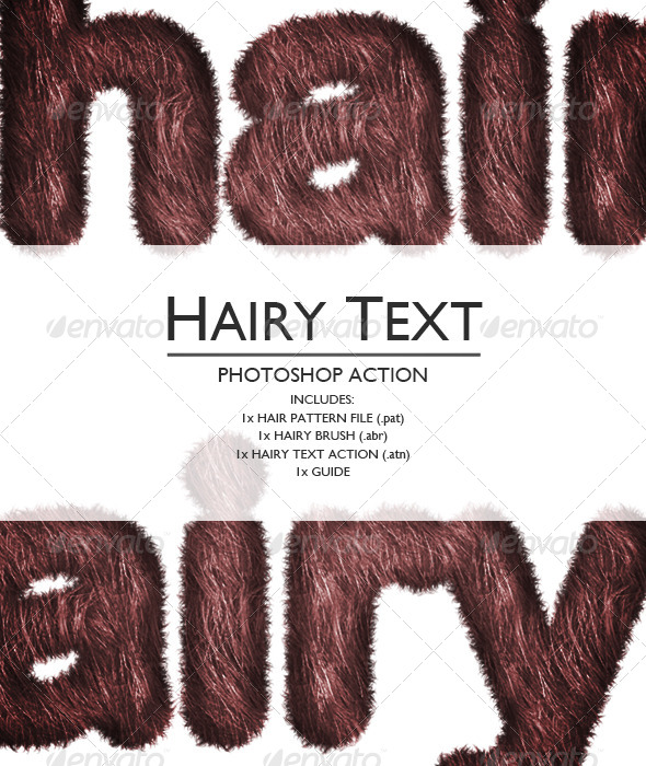 GraphicRiver Hairy Photoshop Text Action 6751153