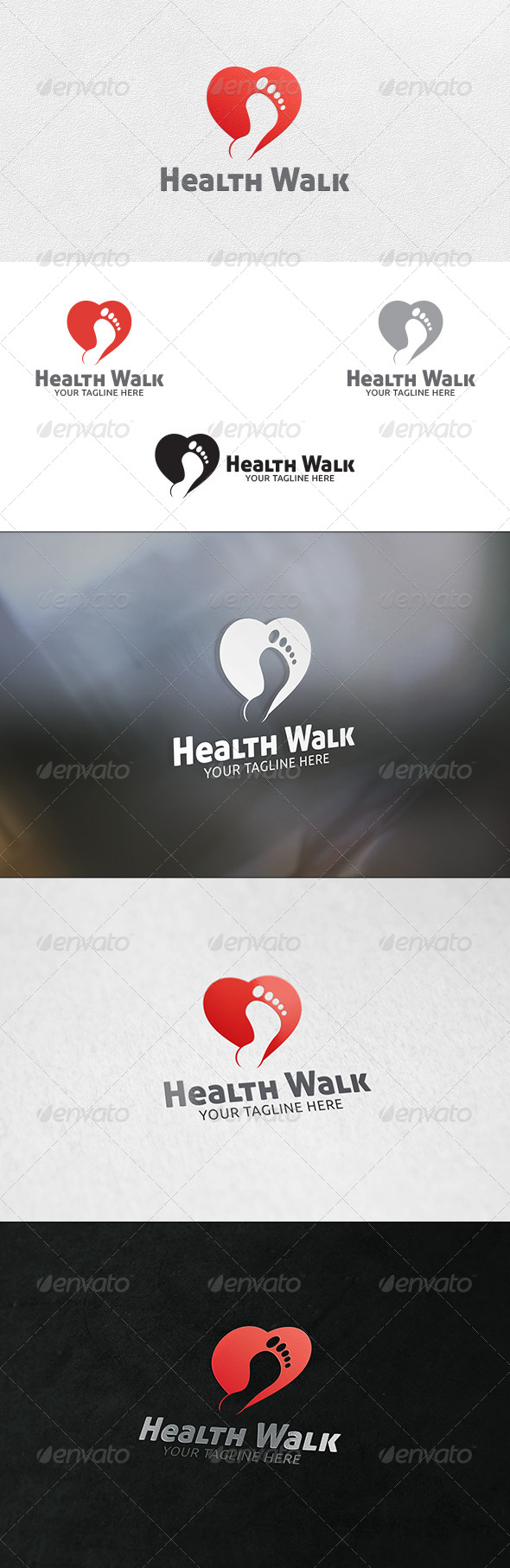 GraphicRiver Healthy Walk Logo Template 6760767