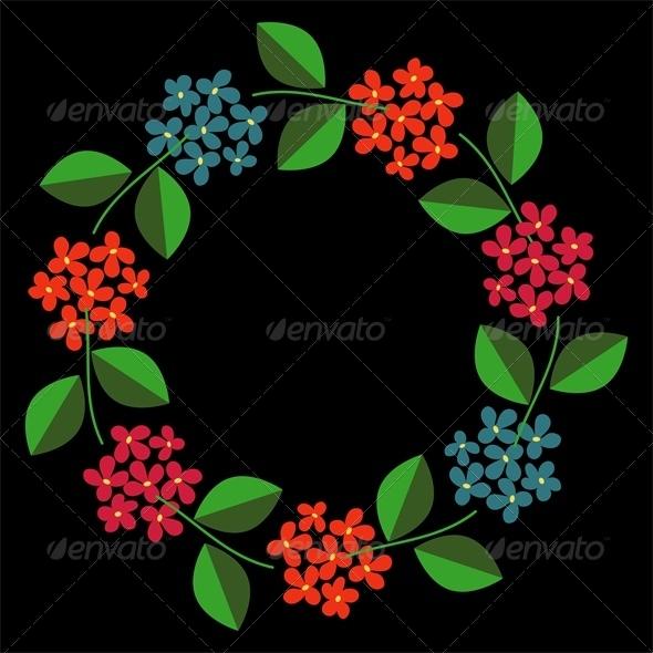 GraphicRiver Floral Frame 6760821