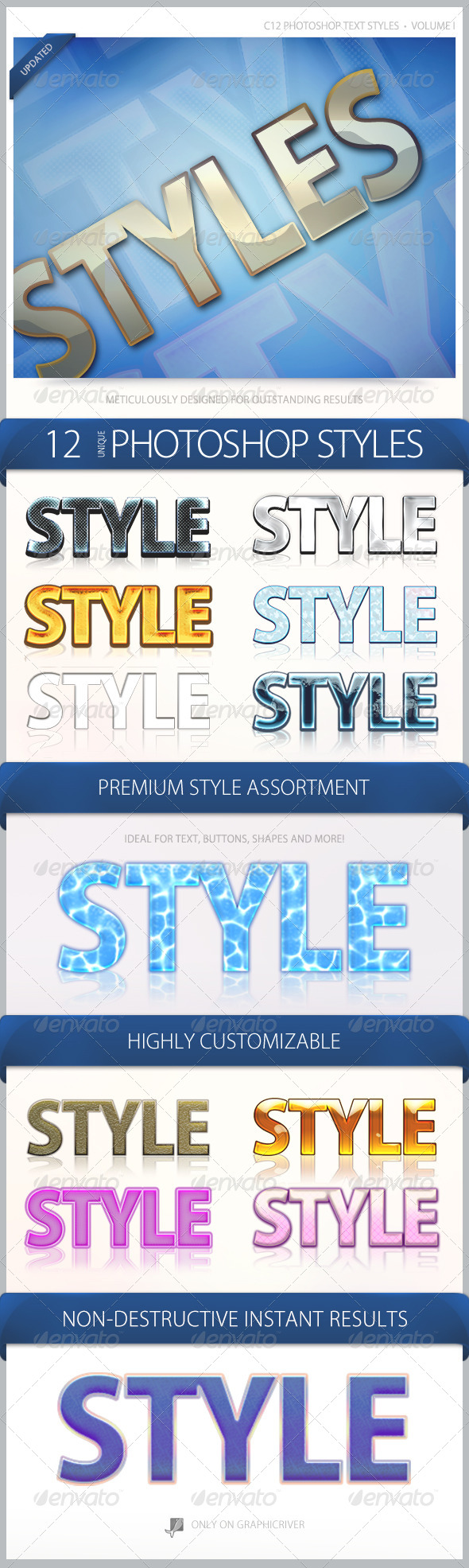 C12 Text Styles Volume 1 - Text Effects Actions