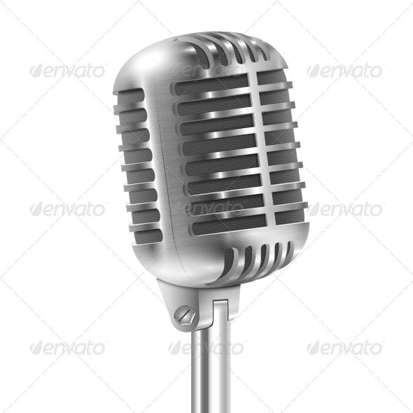 GraphicRiver Retro Microphone 6760880