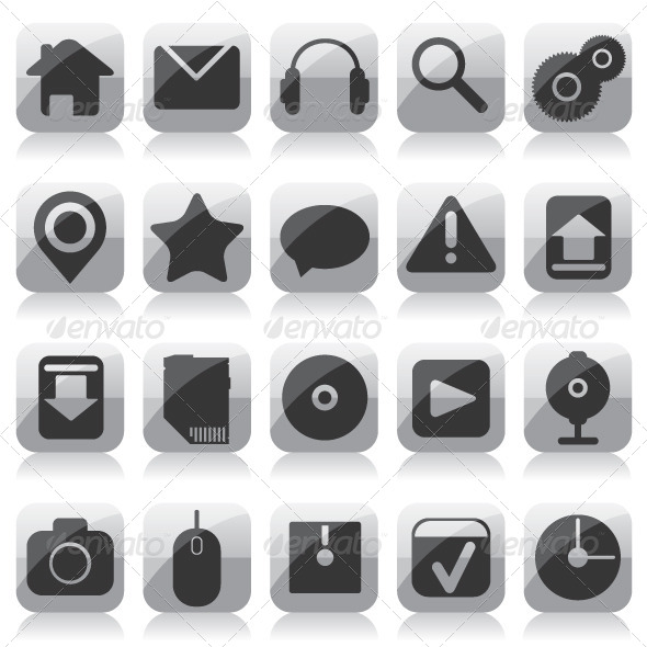 GraphicRiver Web Glass Icons 6760893