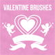 25 High Quality Valentine's Brush Set