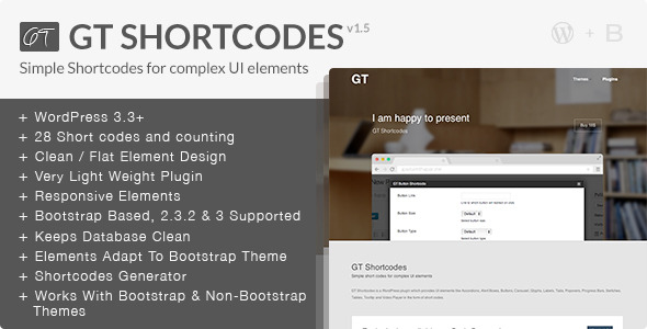 GT Shortcodes - CodeCanyon Item for Sale