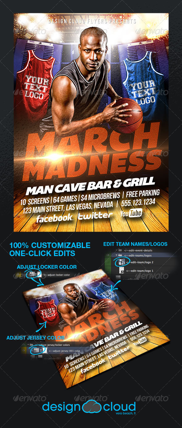 GraphicRiver March Madness College Basketball Flyer Template 6761126