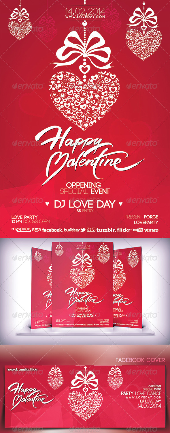 Valentines Day Music Party Flyer