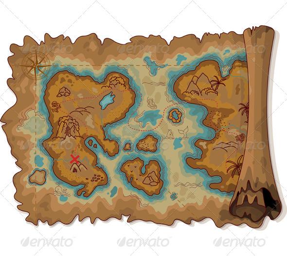 GraphicRiver Pirate Map 6761622